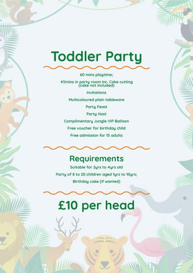 Toddler Party List